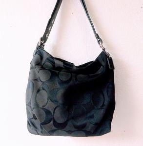 Black Coach Signature Duffle Bag